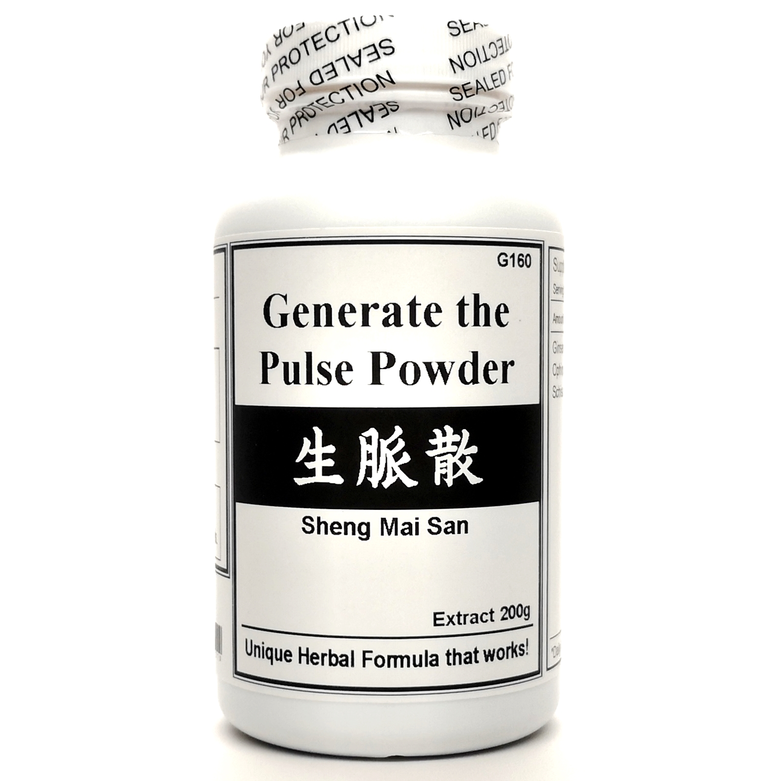 Generate the Pulse Powder Extract Powder Instant Herbal Tea 180g  (Sheng Mai San)